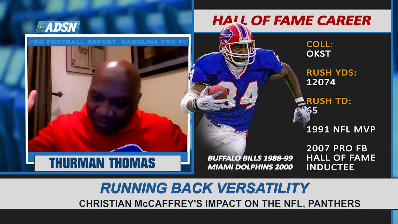 "Thurman Thomas on impact of Christian McCaffrey, more versatile running backs on the ""New-Look"" NFL"
