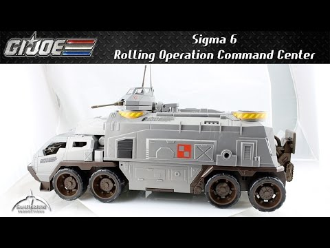 GI Joe Sigma 6 Rolling Operation Command Center R.O.C.C. Unboxing and Review