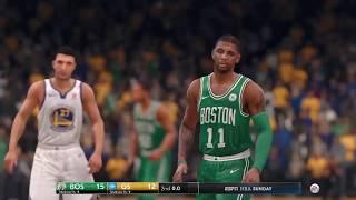 NBA Live 18 Celtics vs Warriors Kyrie vs Curry Gameplay!!!