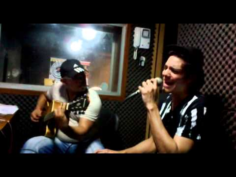 Paolo Ravley e Luiz Jr no Studio Sonora
