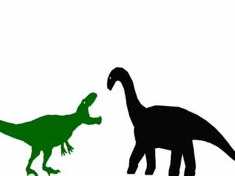 giganotosaurus vs brontosaurus - YouTube