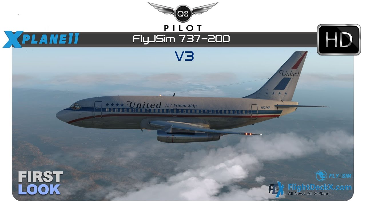 FlyJSim 737-200 V3 released! - The X-Plane General