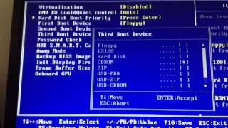 Не встановлюється Windows через BIOS