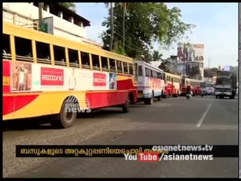 KSRTC services hit as employees strike work in Kollam