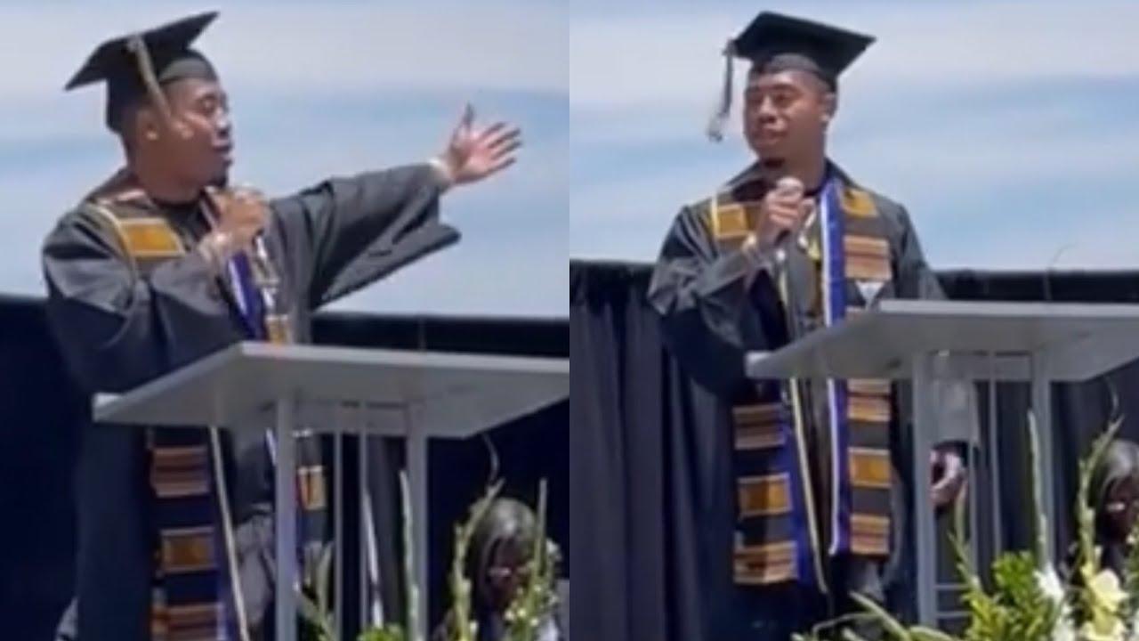 Jordan Bentley of HYPLAND Gives Keynote Speech to Compton Unified School District Black Grads (2021)