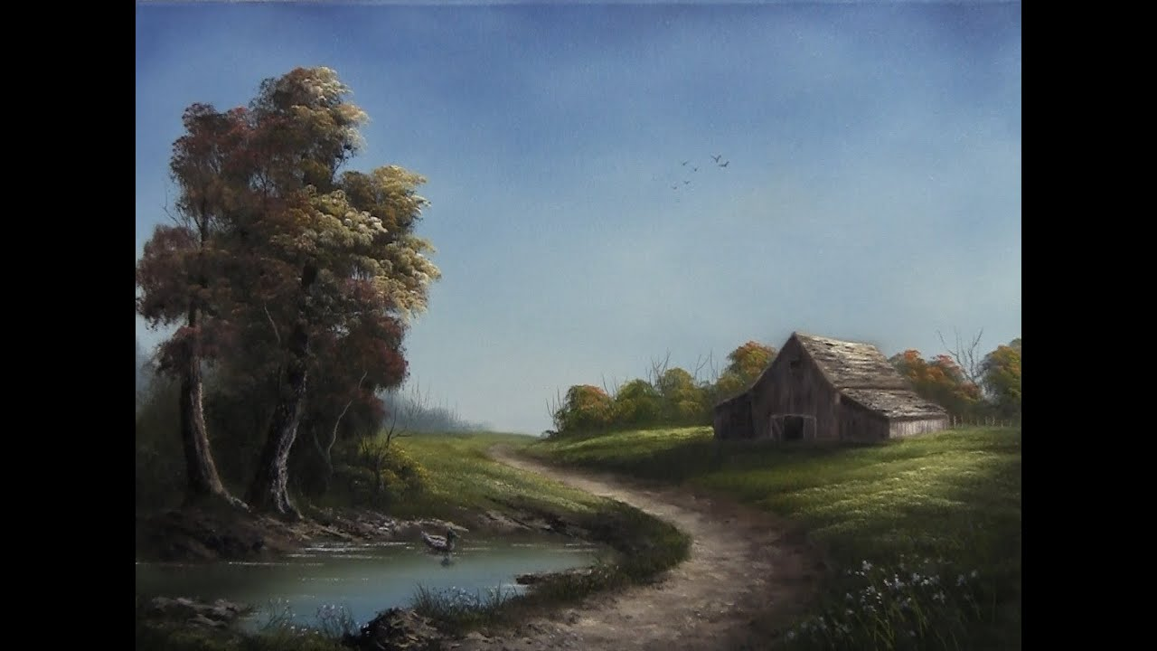 paint with kevin hill road through the farm youtube