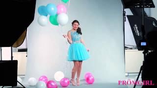 Watch Liana Find Her Two-Piece Blue Sherri Hill Designer Prom Dress