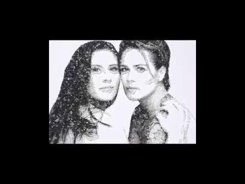 Ashlyn Harris & Ali Krieger's engagement art piece