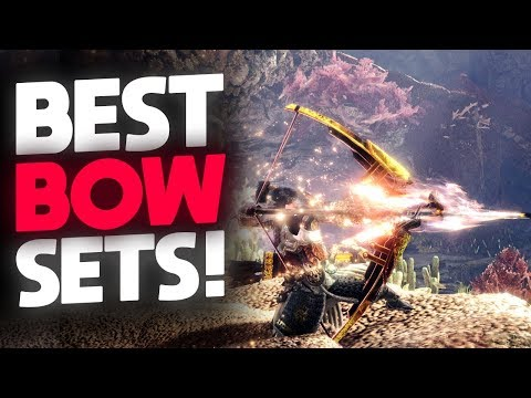 *BEST BOW SETS* Strongest Endgame Bow Builds + GIVEAWAY! | Monster Hunter: World thumbnail