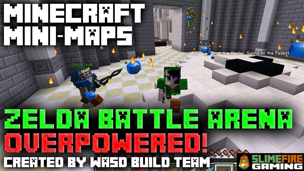 Minecraft Mini-Maps: Zelda Battle Arena 2 4 - Overpowered!