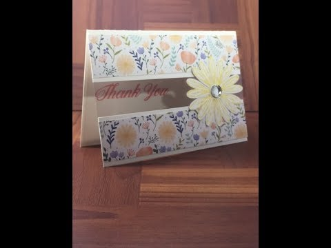 Stampin Up Window Sheet Daisy Thank You Card