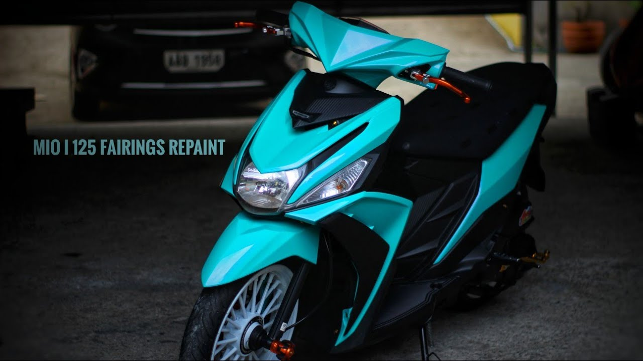 Mio I 125 Fairings Repainting Customized Paint Youtube