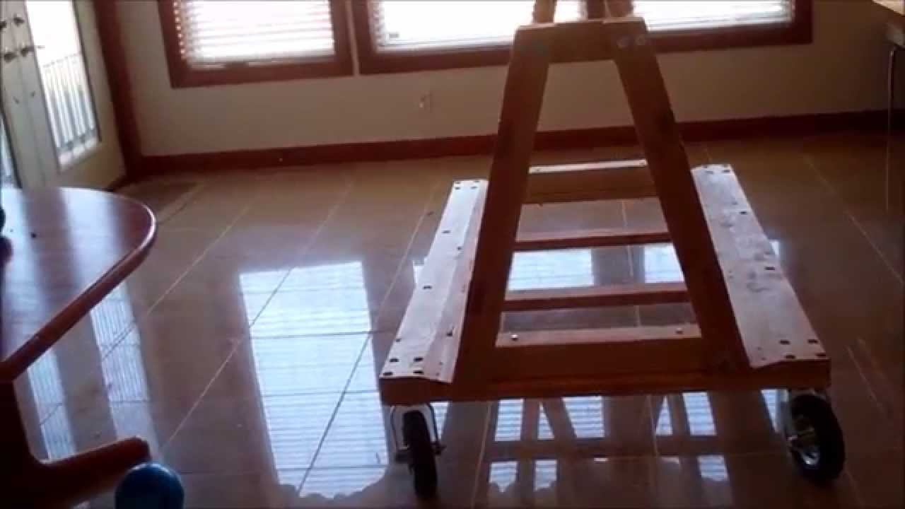 Diy Wood A Frame Cart Youtube