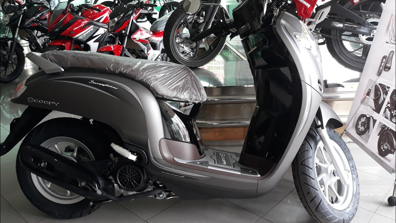 New Honda Scoopy Stylish Matte Brown Stripping Baru 2018 Youtube