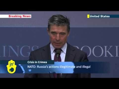 Putin's Crimean War: NATO chief condemns Russia's attempt to annex Crimea