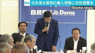 韓国の輸入規制に対抗措置を求める声相次ぐ 自民党(19/05/16)