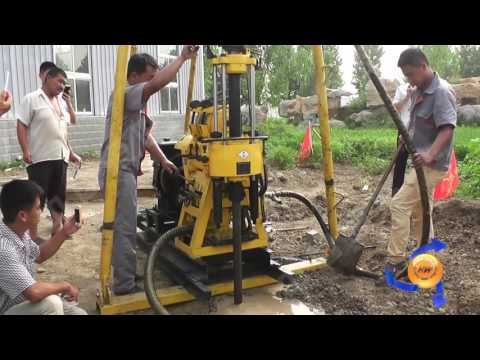 diesel hydraulic water well drilling machine
