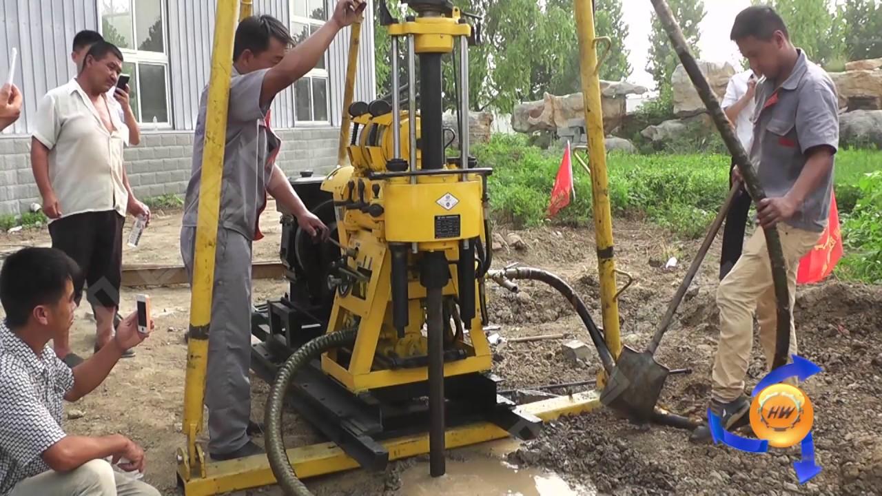 diesel hydraulic water well drilling machine