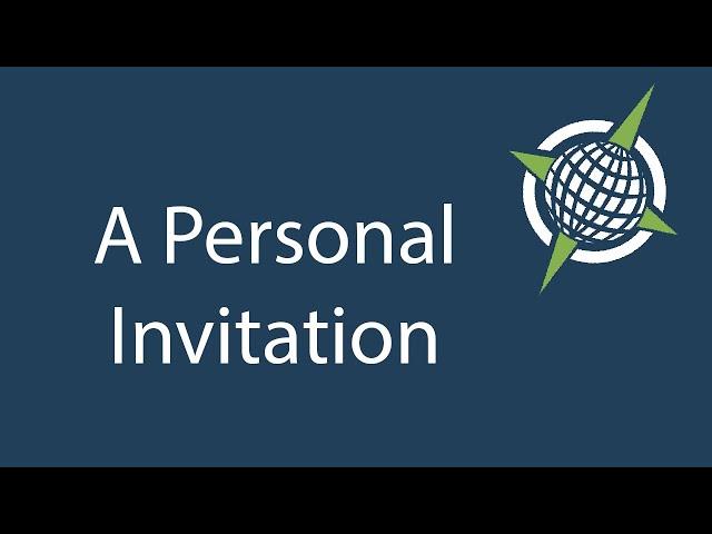 A Personal Invitation - 5/30/2021