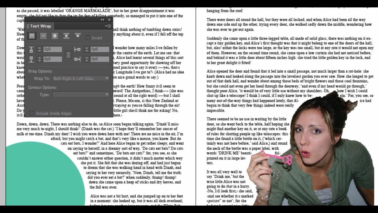 Indesign text wrap tutorial youtube indesign text wrap tutorial publicscrutiny Choice Image