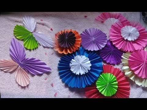 Diy: paper wheels and butterfly craft for decoration
