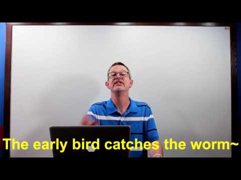 Learn English: Daily Easy English 1018: The early bird gets the worm