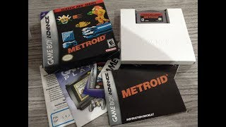 UNBOXING METROID CLASSIC NES SERIE GAME BOY ADVANCED