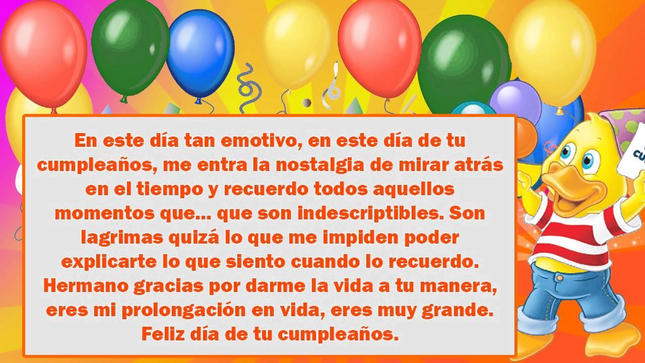 Frases Y Mensajes De Feliz Cumpleaños Para Un Hermano2019