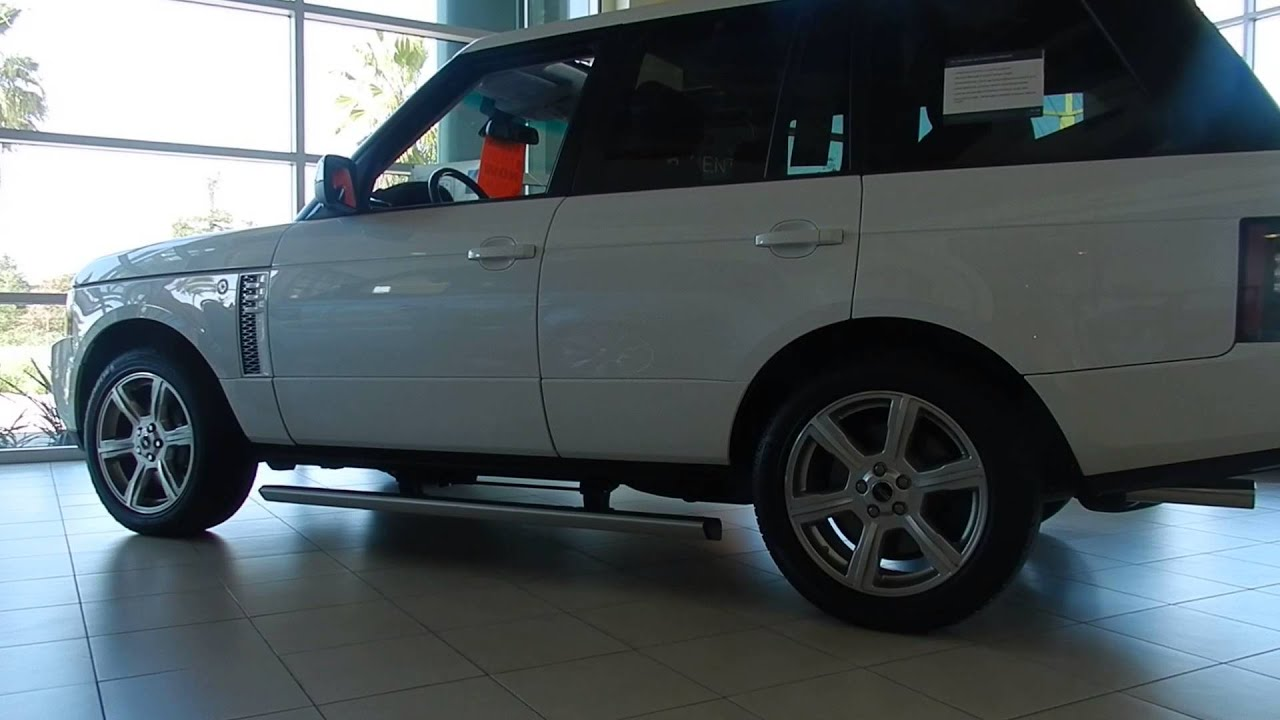 Land Rover Marin >> 2012 Range Rover with deployable side steps - YouTube