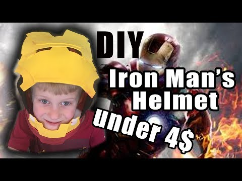 DIY Iron man's HELMET under 4$