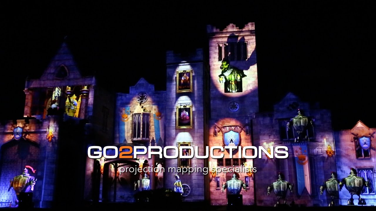 Castle Projection Mapping - Sleeping Prince - Lyndhurst Castle NYC