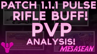 Destiny Patch 1.1.1. Pulse Rifle PvP Break Down. Three Little Words, Red Death and Bad JuJu.