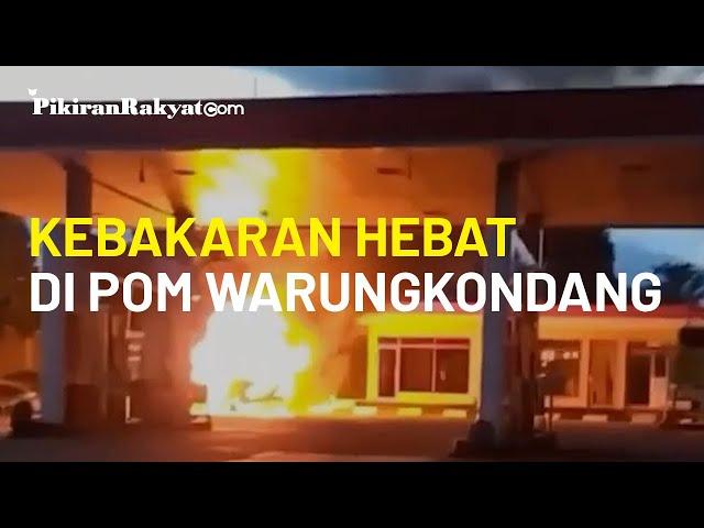 Kebakaran Hebat di Pom Bensin Warungkondang, Cianjur. Dipicu Mobil Membawa Gas Melon yang Terbakar