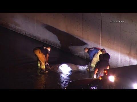 Man Found Dead Along LA River / Elysian Park   RAW FOOTAGE