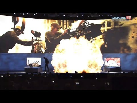 Michael Bay Walks off Stage at CES with Explosion