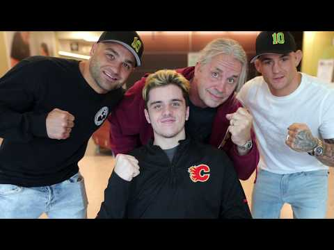 'He's the real fighter', UFC fighters visit injured Humboldt Broncos player