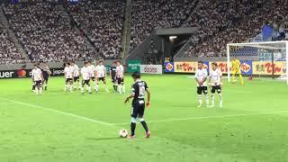 ガンバ大阪vsジュビロ磐田のなかでの神FKです!