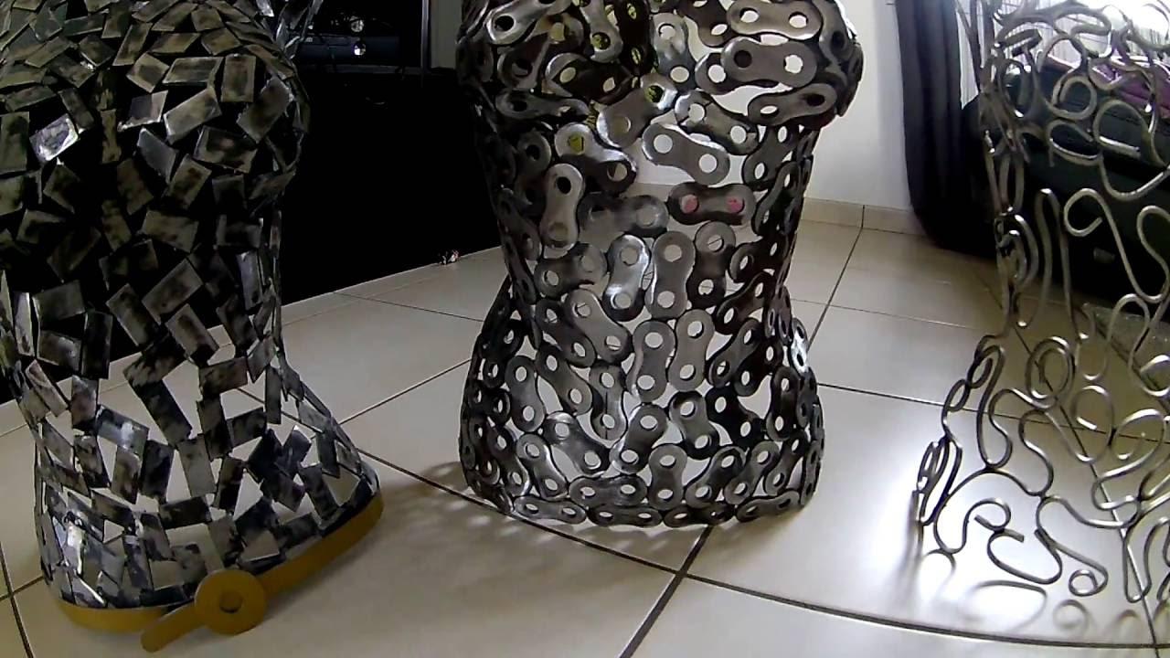 Gut bekannt Buste femme acier, sculpture acier. - YouTube SM06