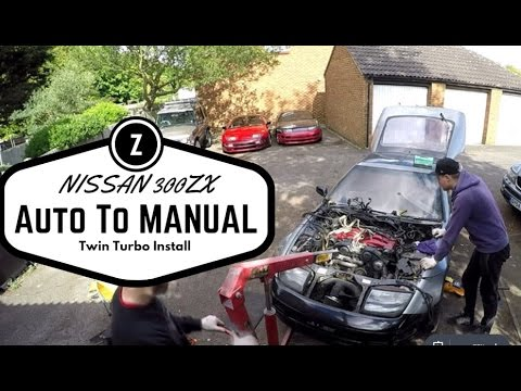 nissan 300zx auto to manual conversion installing twin turbo rh youtube com Grs Manual Install Java Manual Install
