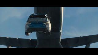 Команда Доминика прыгает с самолёта на машинах. \ Форсаж 7