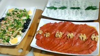 3 Çeşit Meze Tarifi /MUHAMMARA(ACUKA)+PİYAZ+HAYDARİ TARİFİ /Seval Mutfakta