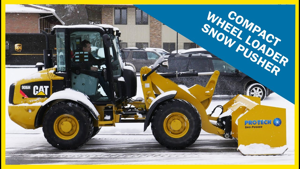 Compact Wheel Loader Snow Pusher Pro Tech Sno Pusher