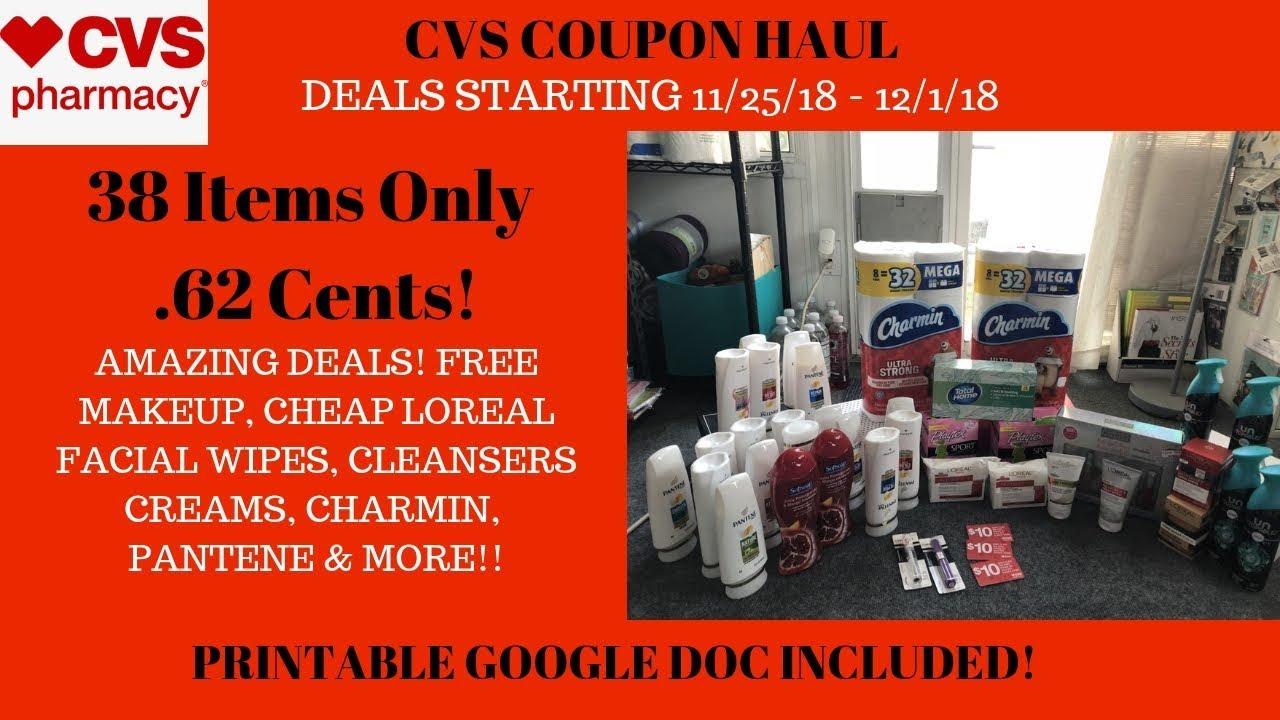cvs coupon haul deals starting 11  25  18