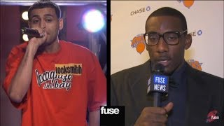 Amar'e Stoudemire listens to Locksmith's music