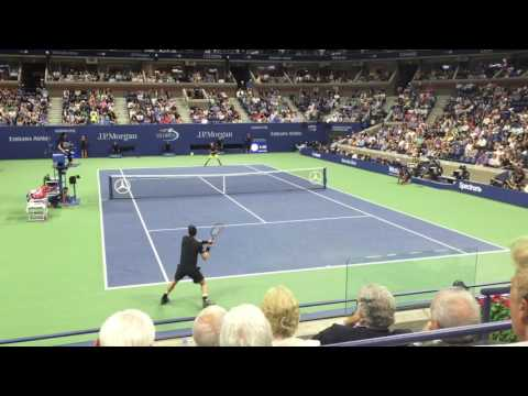 US Open 2016 - Murray vs Dimitrov Points Compilation (Court Side View) HD
