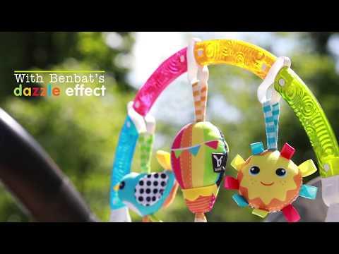 Дуга на кроватку/коляску Benbat Dazzle Play Arches Rainbow. Видео №1