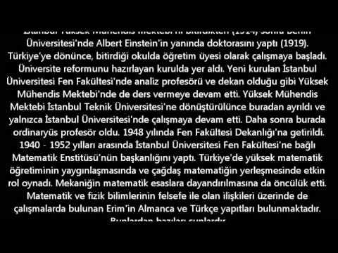 ünlü Türk Matematikçileri Youtube