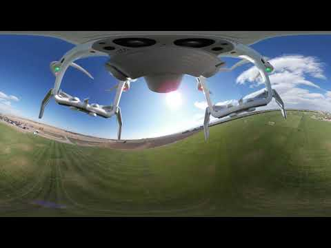 360 interactive Ball Drop from a drone