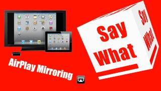 iPhone/iPad: AirPlay Mirroring
