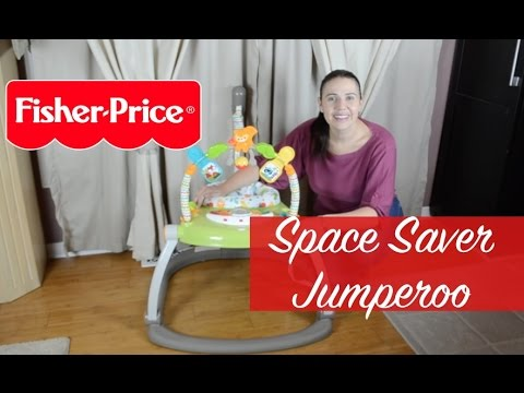 f0b0921e9309 NEW! Fisher Price Woodland Friends Space Saver Jumperoo - YouTube